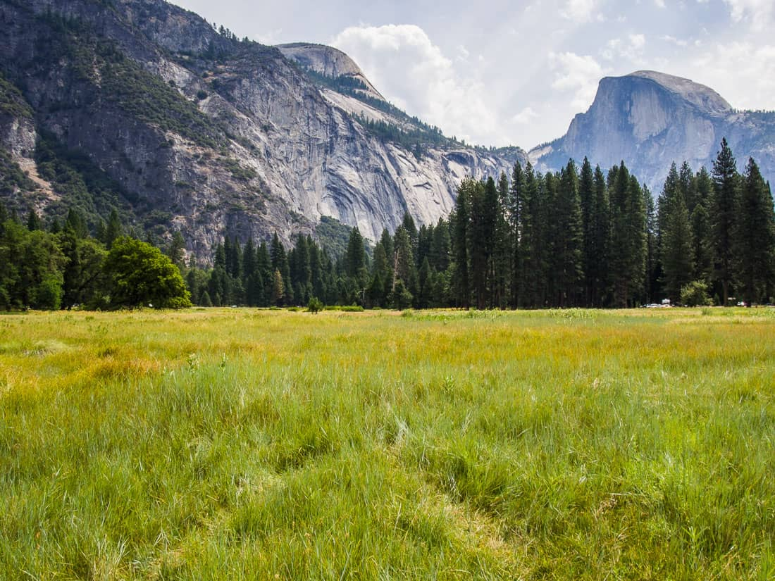 Cooks Meadow, Yosemite, one of the stops on our Yosemite summer itinerary