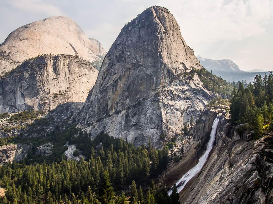 Nevada Falls from the John Muir Trail, Yosemite