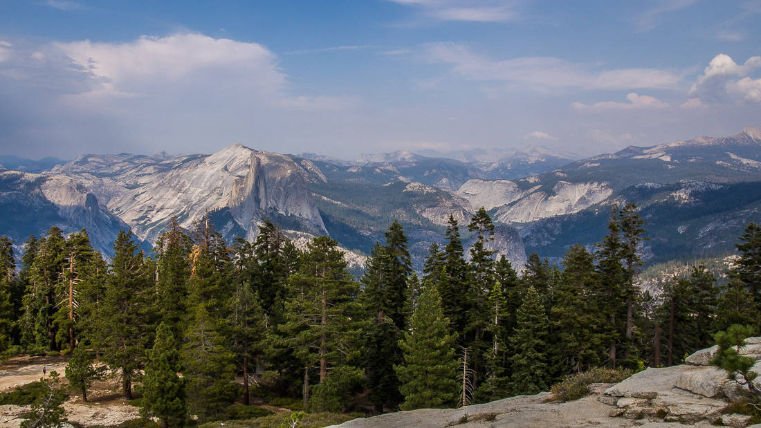 View at Sentinel Dome, Yosemite from our three day Yosemite itinerary