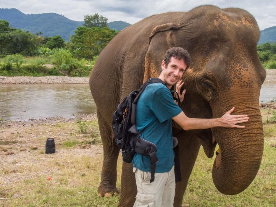 Simon at the Elephant Nature Park, Chiang Mai