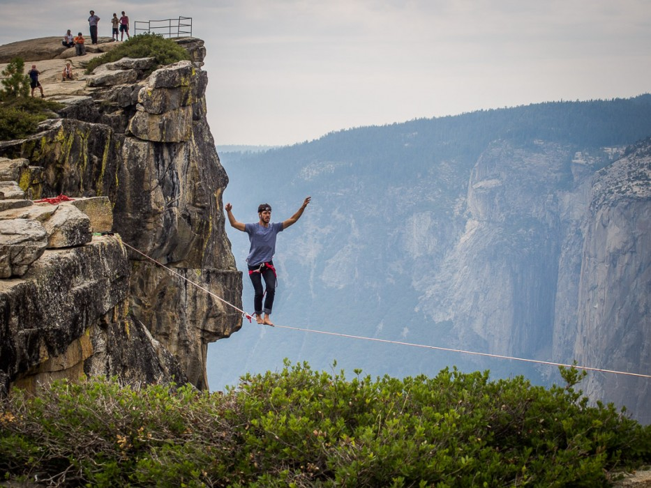 Tightrope walker at Taft Point, Yosemite