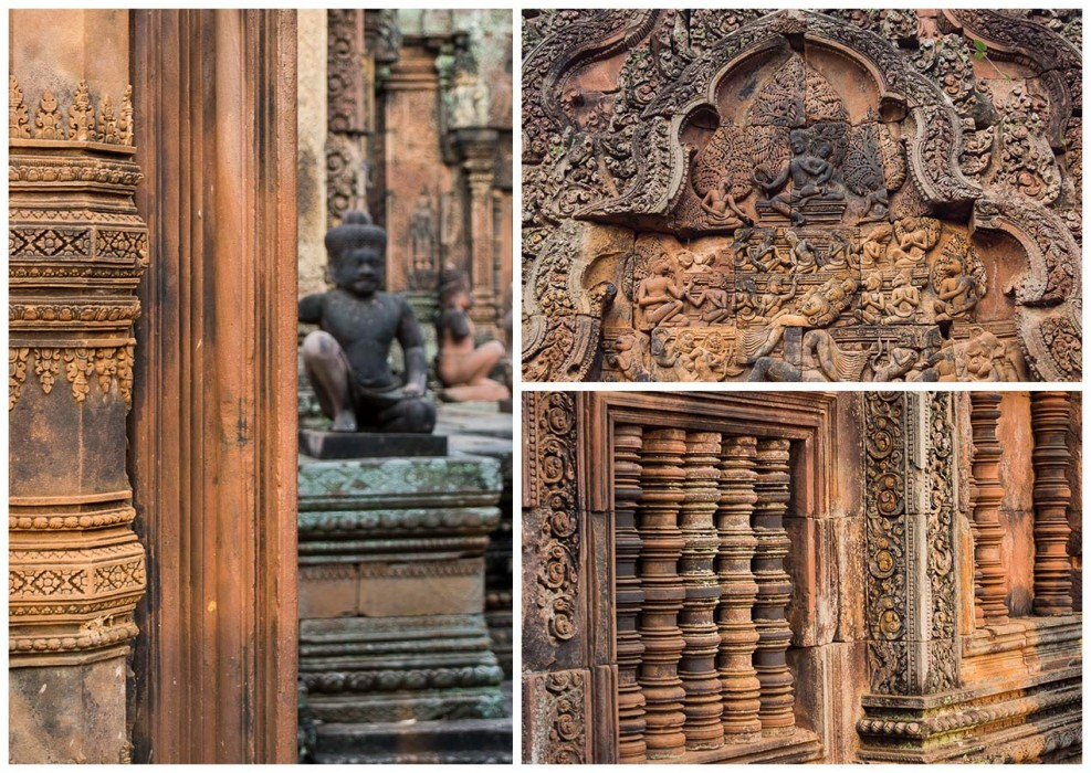 Intricate carvings at Banteay Srei