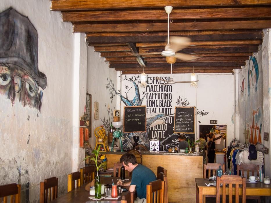 The cool Cafe Espresso, Kampot