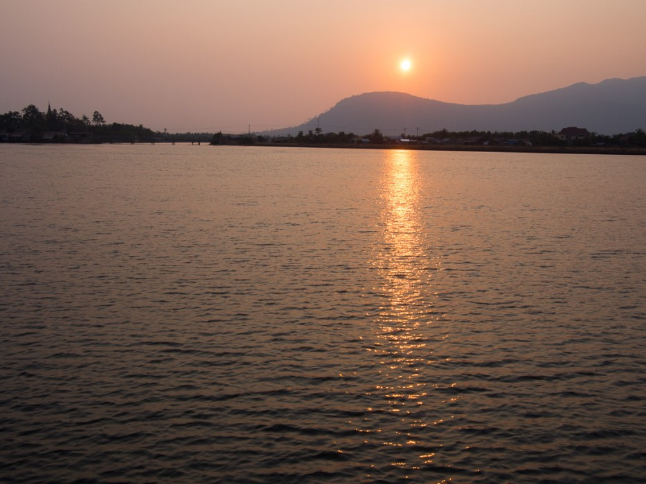 Sunset on Kampot's river