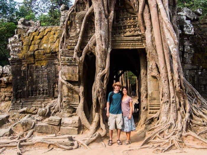 Erin and Simon at Ta Som, Angkor