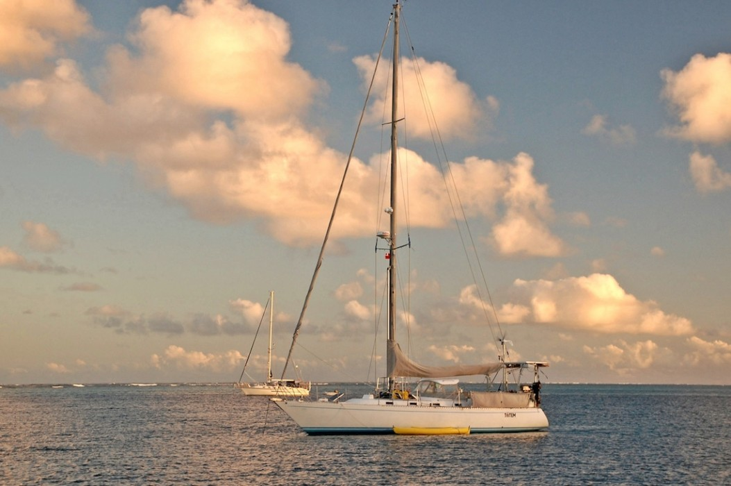 Totem at anchor in the Vava'u island group, Tonga