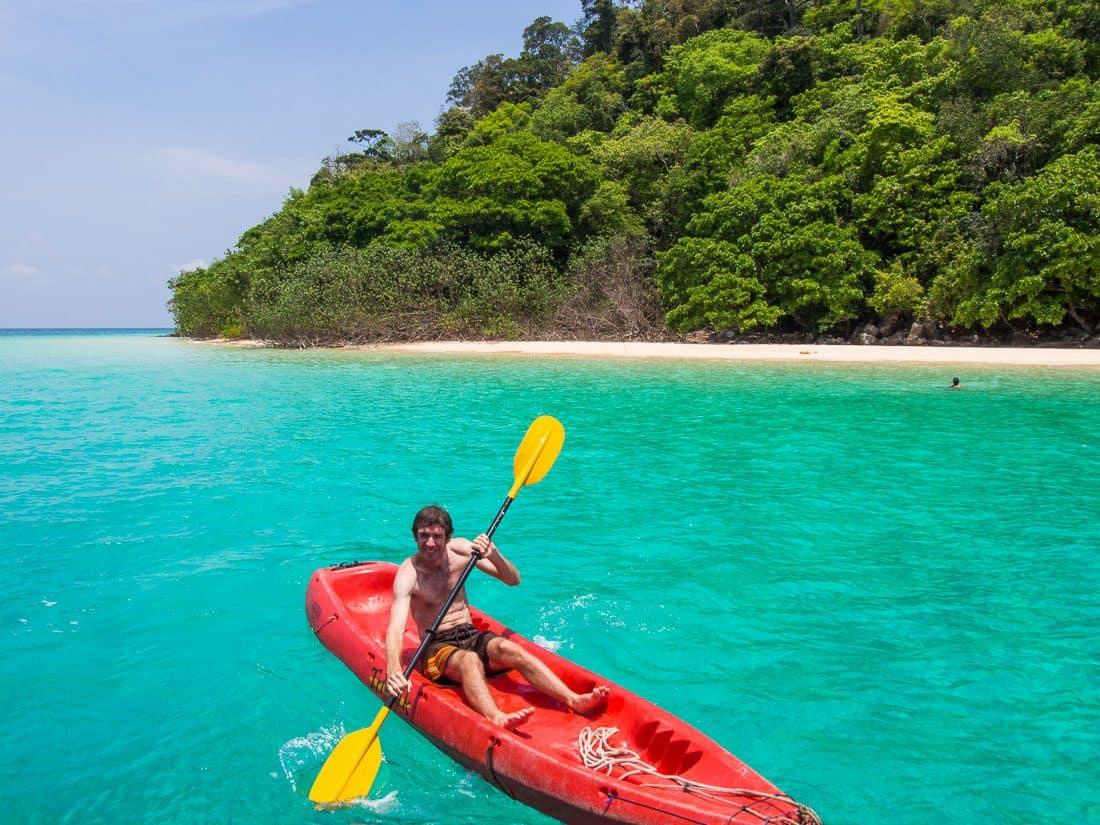 Kayaking at Koh Rok, Thailand