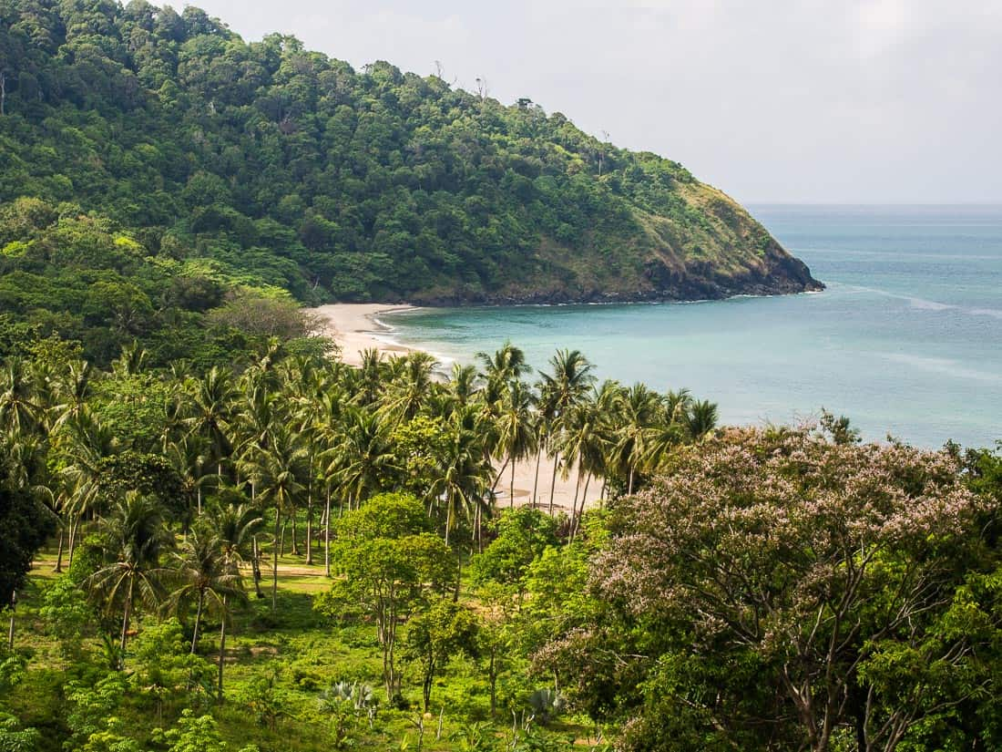 Bamboo Bay - one of the beaches you can visit on Koh Lanta by scooter