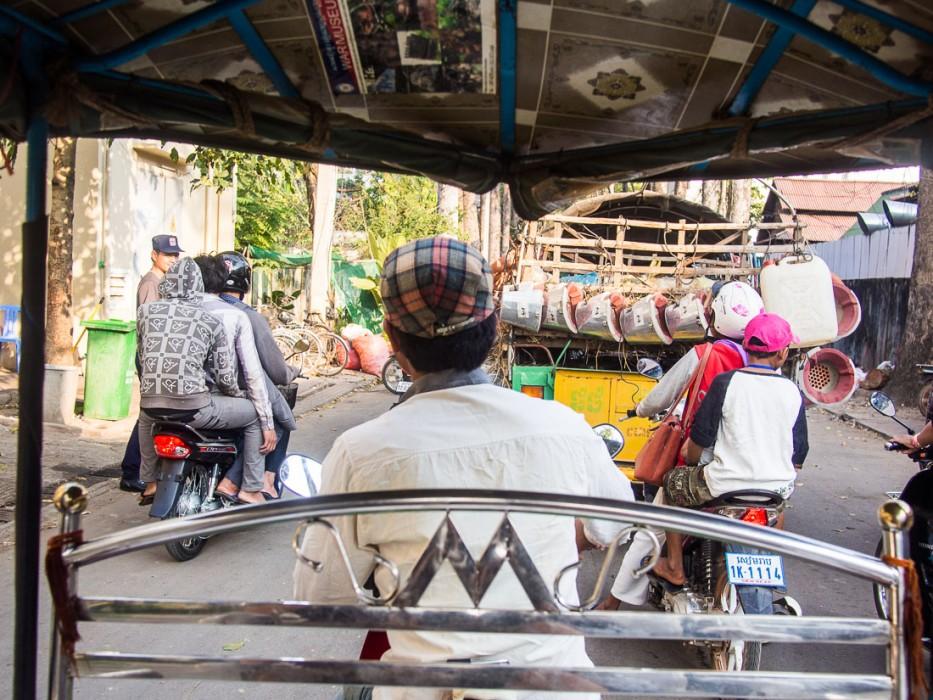 View from a tuk tuk, Cambodia