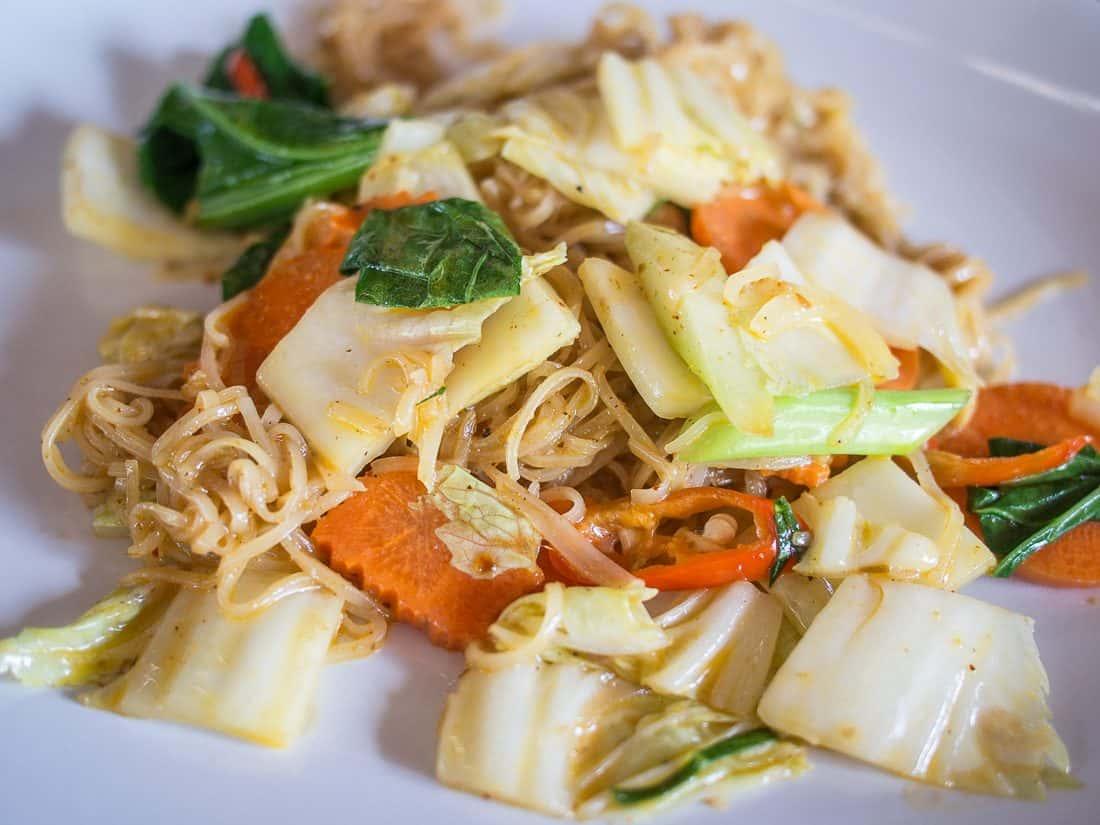 Pad thai with penang curry at Mays