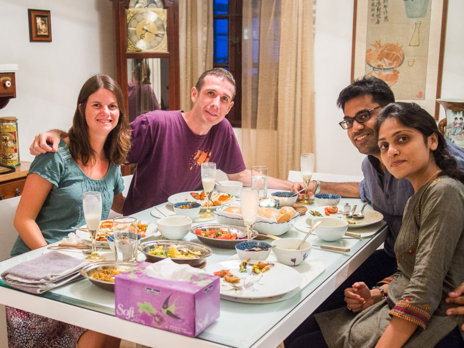 With Locals dinner - Us with Kirit and Falguni
