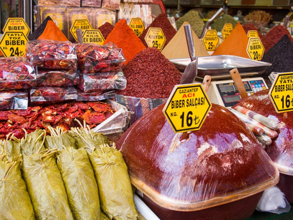 Vegetarian food in Turkey: self cater at the markets