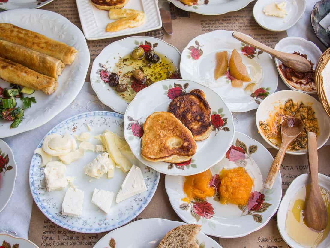 Turkish breakfast at Cafe Privato, Istanbul