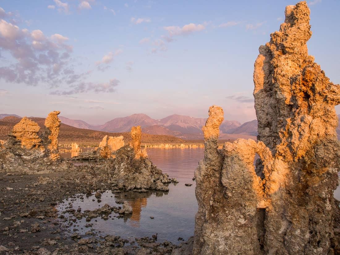Mono Lake, California at sunrise - a worthwhile addition to a Yosemite itinerary