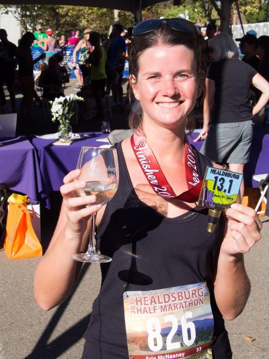 My first half marathon - Run Wine Country Healdsburg Half Marathon