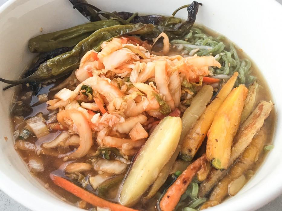 Vegan San Diego: Charred kimchi ramen