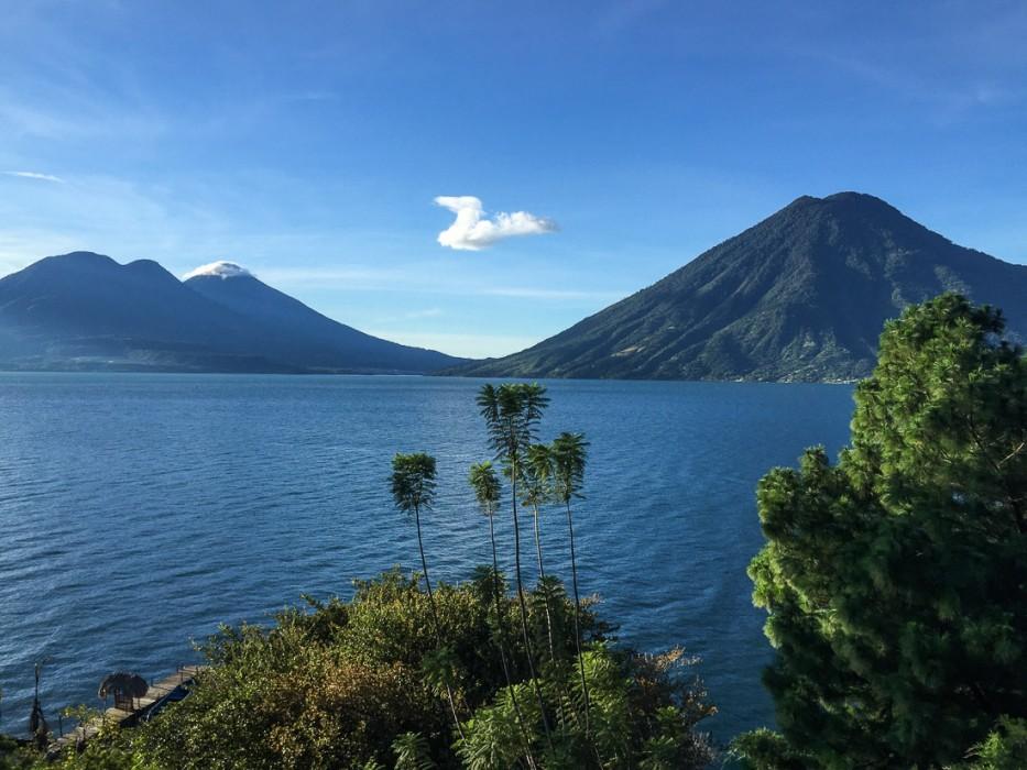 View from Pasajcap, San Marcos, Lake Atitlan