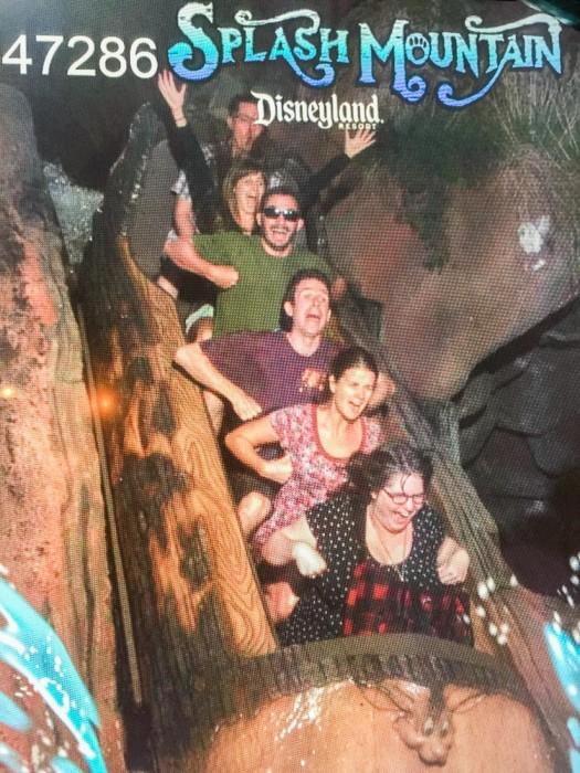 Splash Mountain log flume ride at Disneyland California