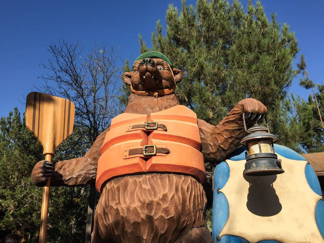 Grizzly River Run water ride, one of the best rides at Disneyland California Adventure