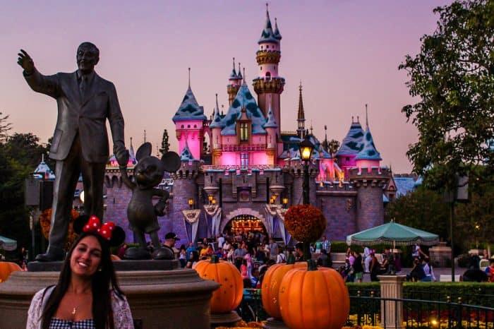 Disneyland at dusk