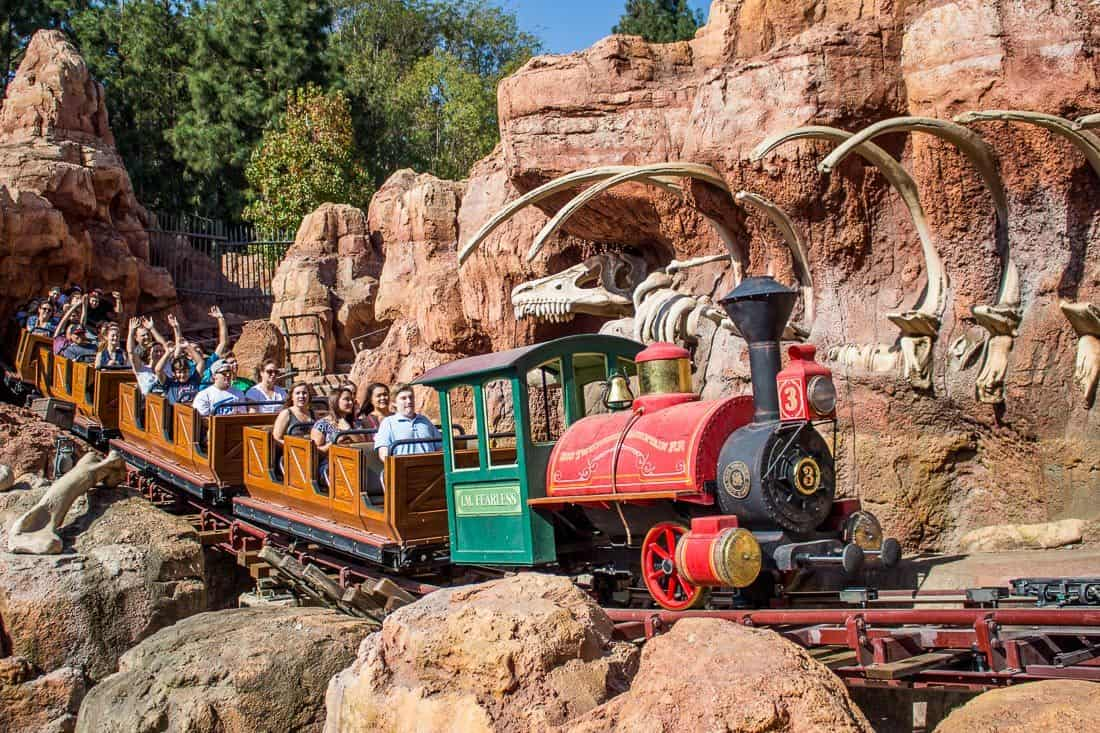 Big Thunder Mountain, one of the best Disneyland rides for adults