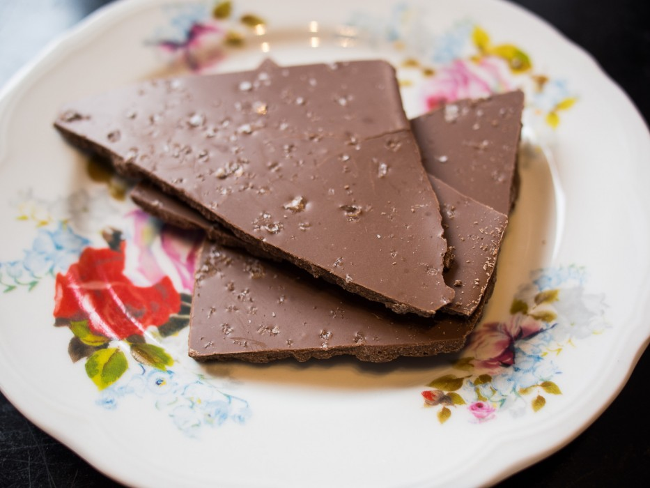 Sea salt chocolate at Petris Chocolate Room on our food tour with Happy Guide Helsinki
