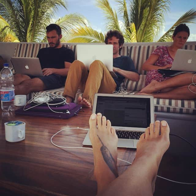Our rooftop digital nomad office