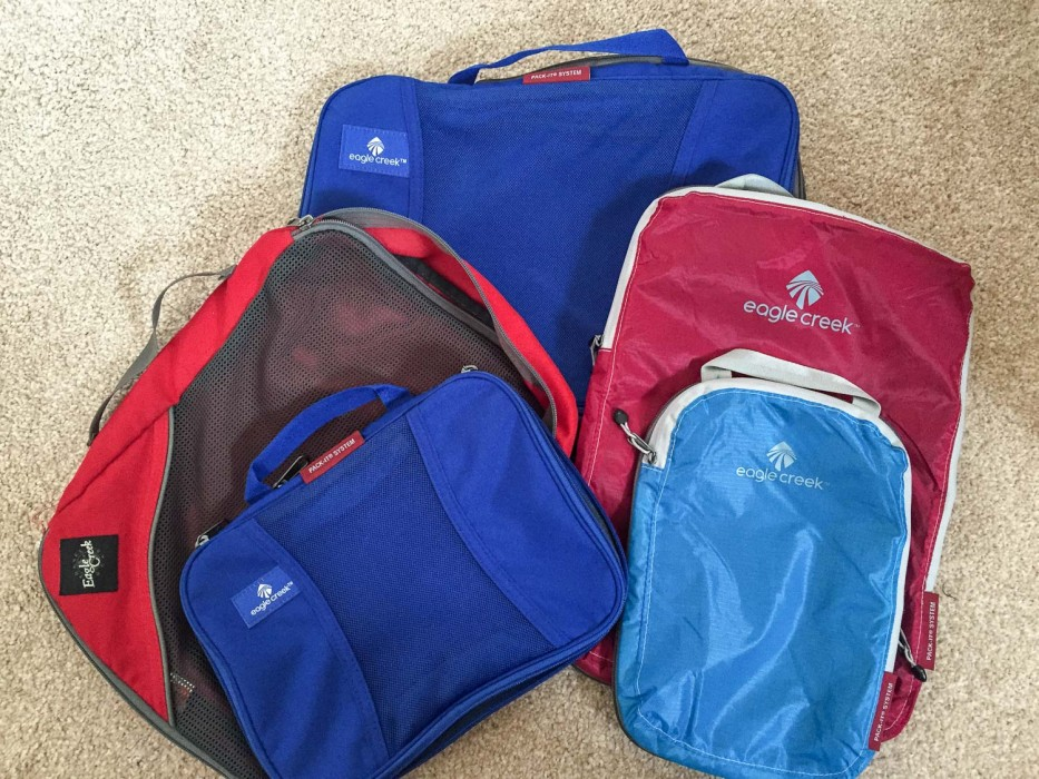 How to use packing cubes -Eagle Creek Pack It cubes review