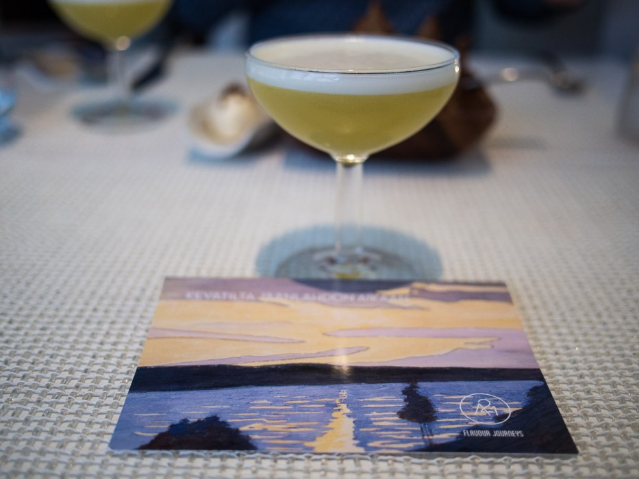 Asparagus and lemon cocktail-A21 Dining review, Helsinki