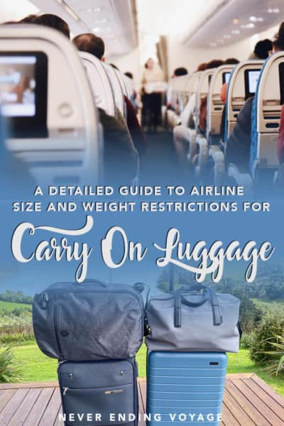 A detailed guide to all the airline restrictions on carry on luggage! | packing tips, travel tips, carry on packing