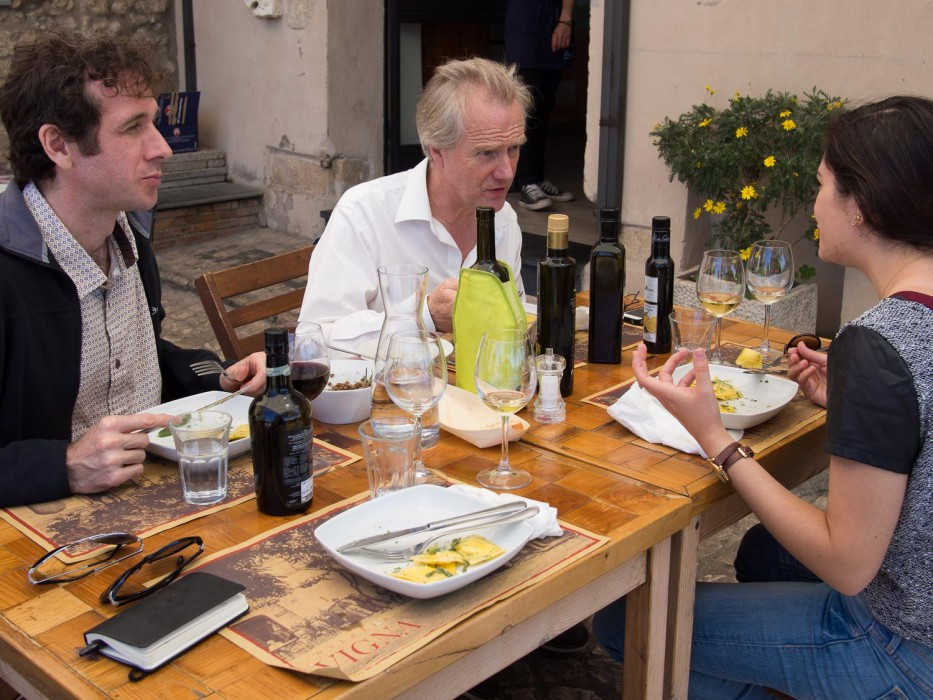 Lunch with Johnny at Osteria Vigna, Sabina