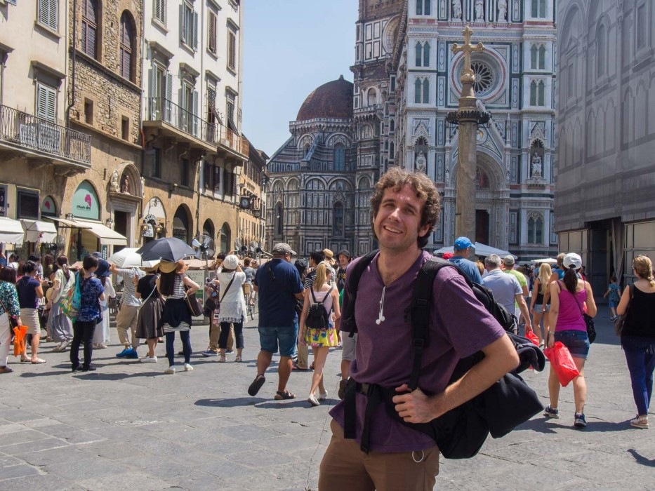 Italy to London by train: Florence Duomo