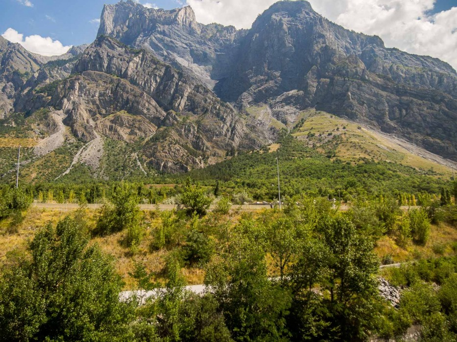 Mountain views on the TGV from Milan to Paris