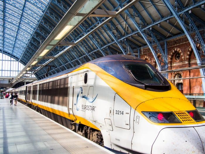 London to Italy by train: the Eurostar at St Pancras