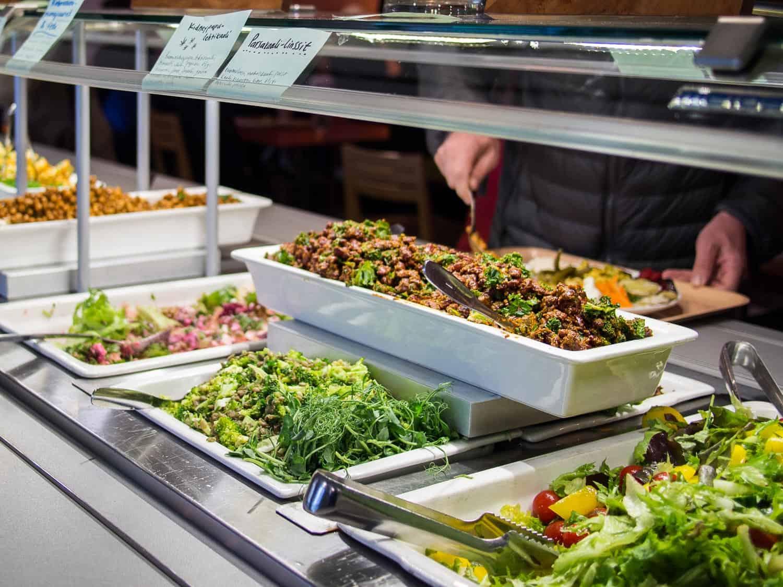 Silvoplee vegetarian buffet, Helsinki vegetarian restaurant