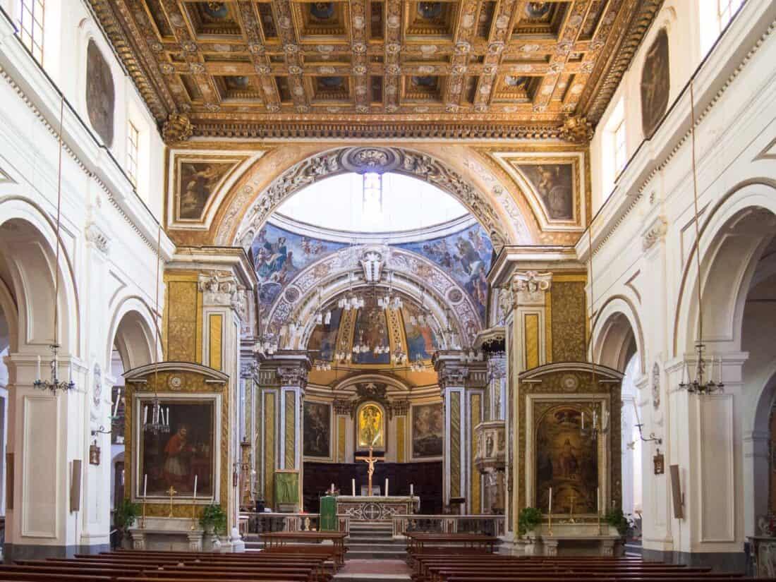 Abbazia San Michele Arcangelo on Procida Island, Italy