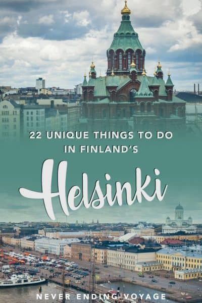 For all the top things to do in Helsinki, Finland, don't miss this post! #finland #helsinki #thingstodoinhelsinki #finlandtravel
