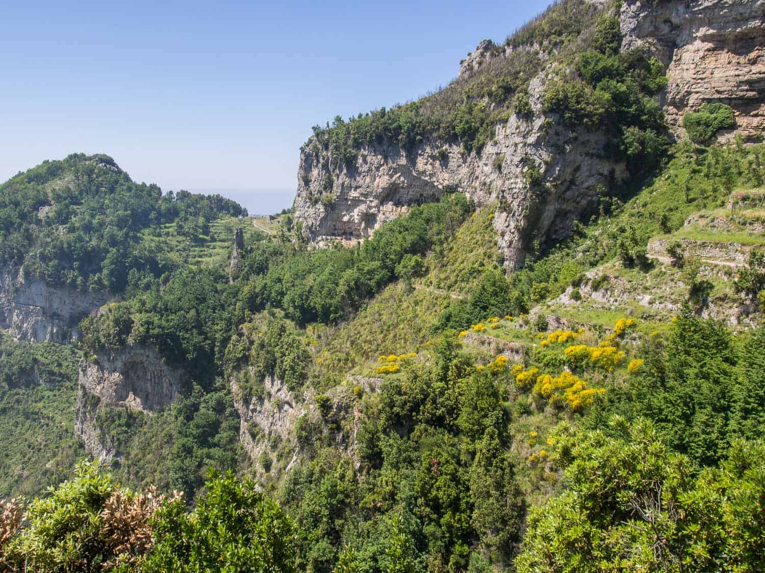 View from the Path of the Gods Amalfi