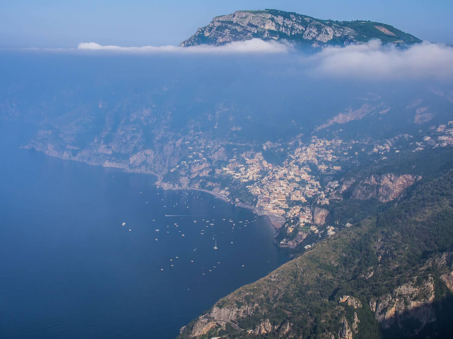 Positano view from the Path of the Gods, Amalfi Coast