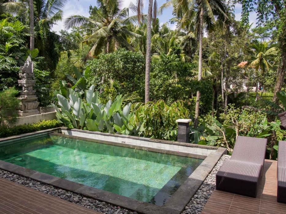 Ubud house rental pool