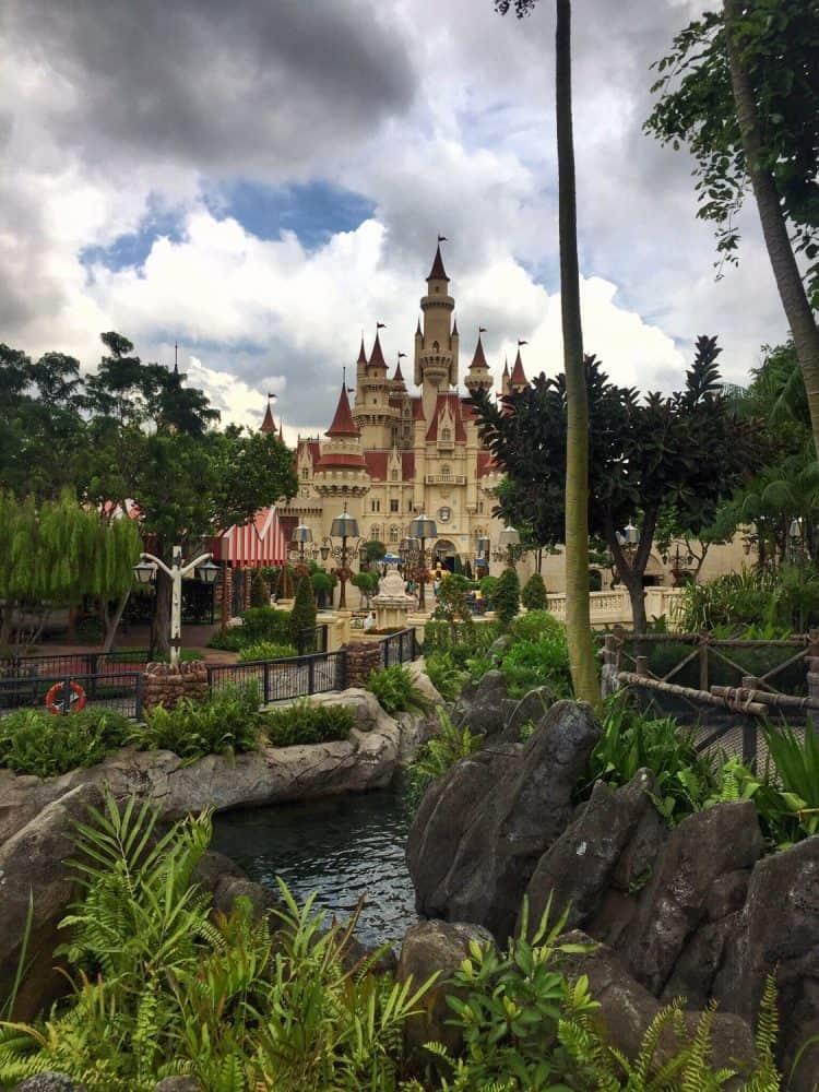 A photo of the castle at Far Far Away, Universal Studios Singapore