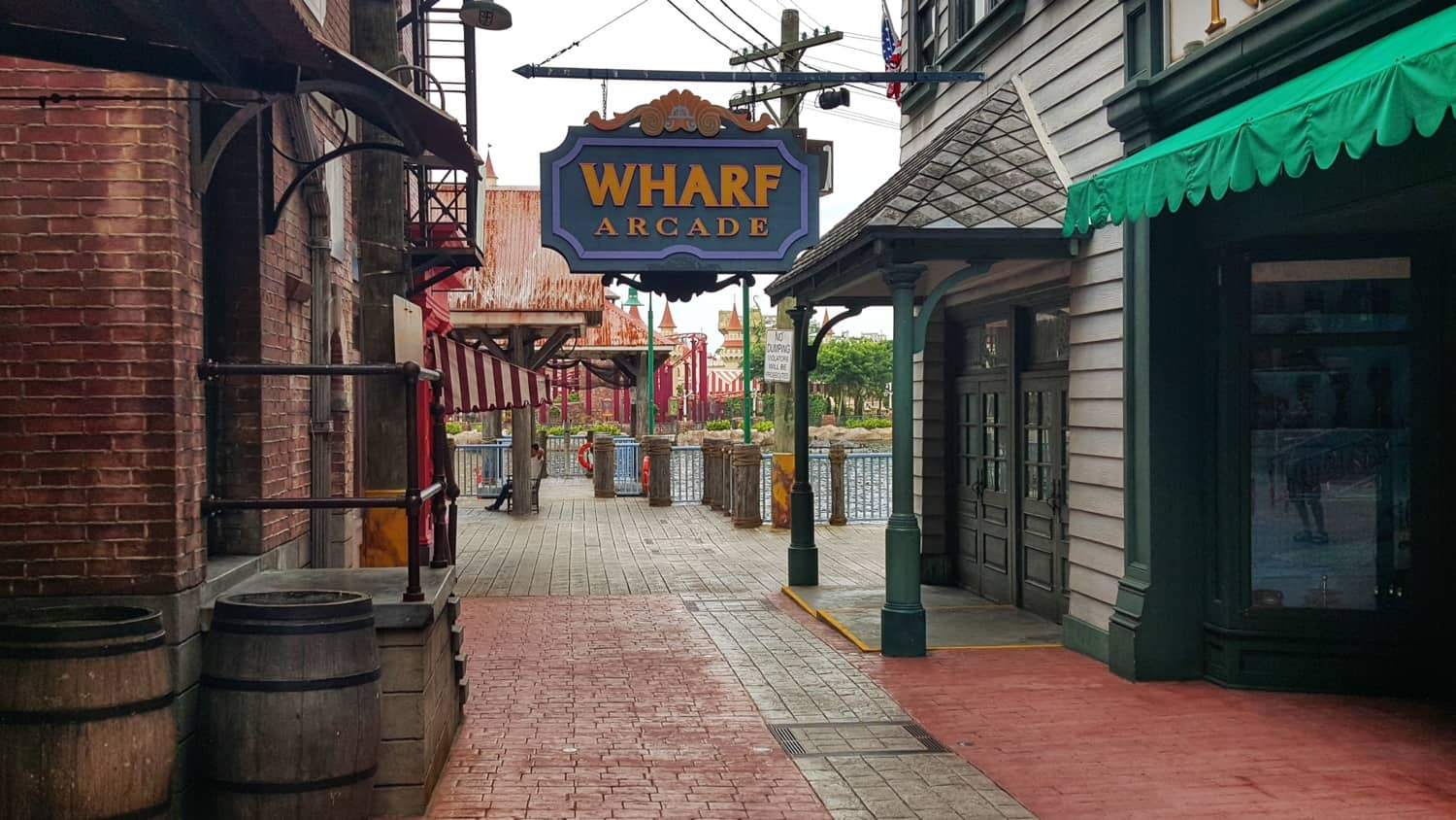 A photo of the New York Wharf at Universal Studios Singapore
