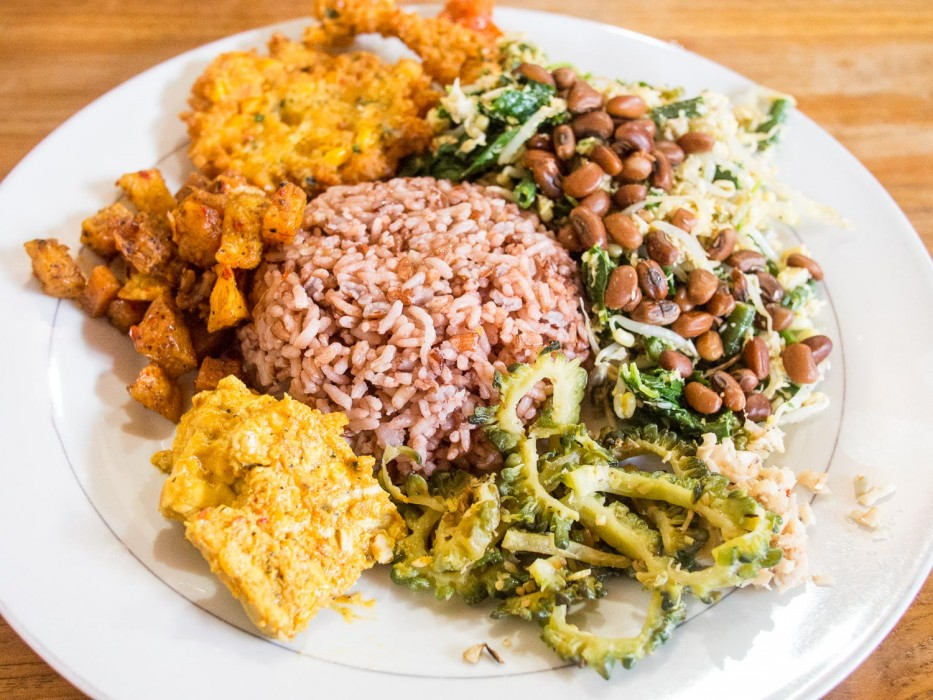 Ubud vegan restaurants - Prima warung nasi campur