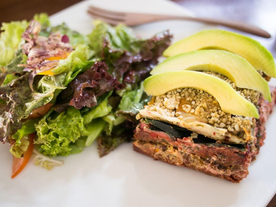 Raw vegan food in Ubud - The Seeds of Life lasagna