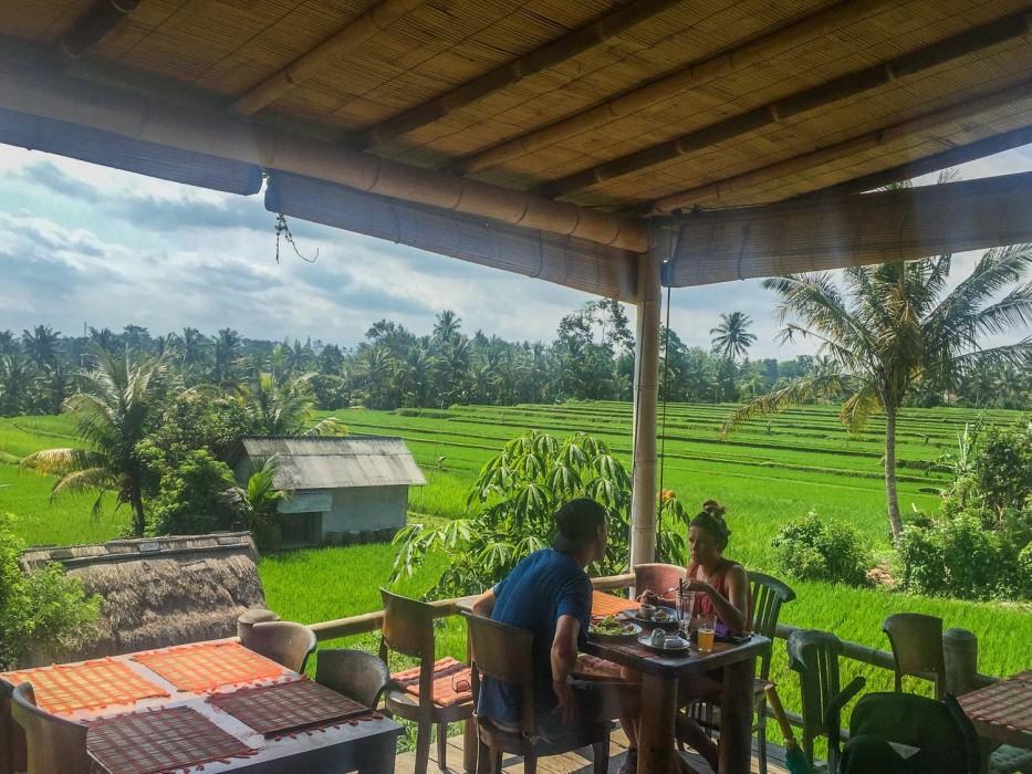 Sari Organik vegetarain friendly restaurant with a view in Ubud