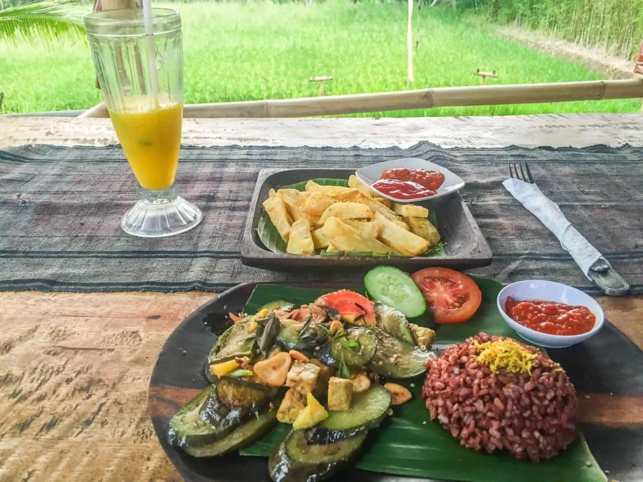 Ubud vegetarian restaurants - warung Bintangbali