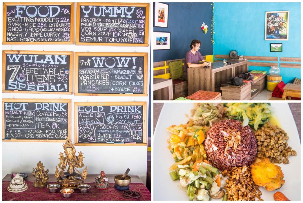 Ubud vegetarian restaurants- Wulan vegetarian warung