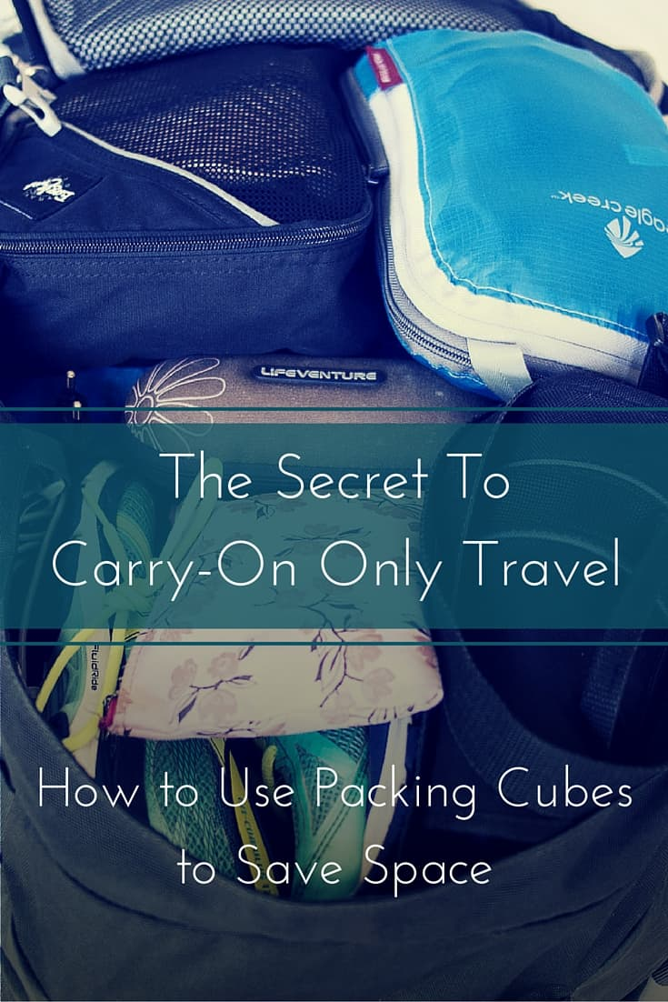 How to pack packing cubes for carry-on only travel