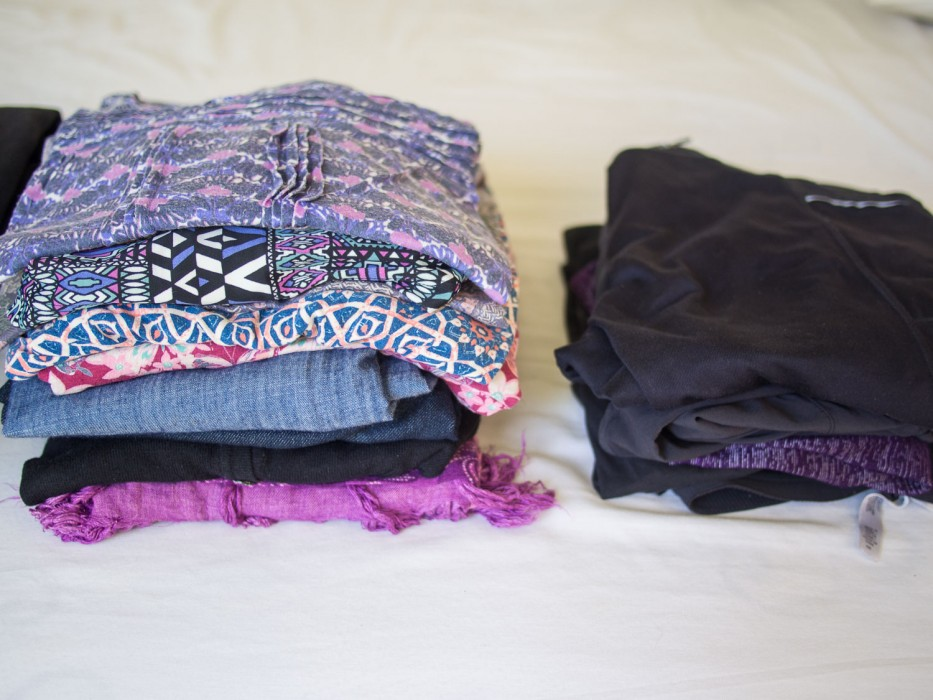 Carry on travel packing list - women's clothes