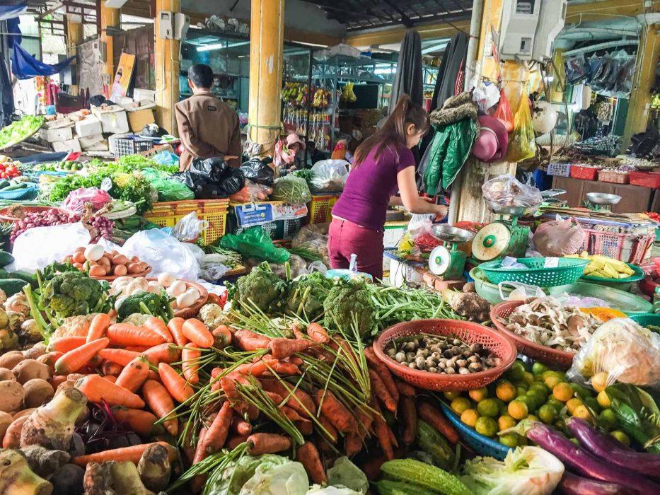 Our favourite vegetable stall at Tan An market